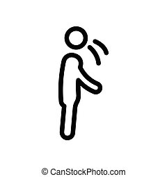 cough thin line icon