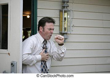 Coughing in Doorway