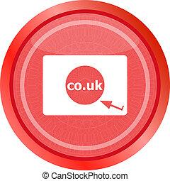 co.uk, イギリス, シンボル, subdomain, 範囲, 印, インターネット, icon.