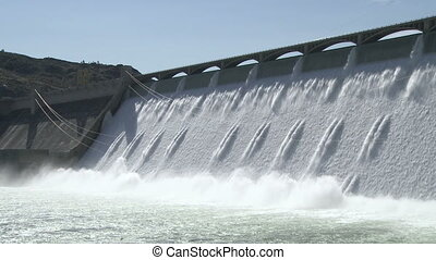 coulee, großartig, hydroelektrischer damm
