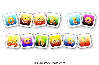 couleur, école, lettres, dos