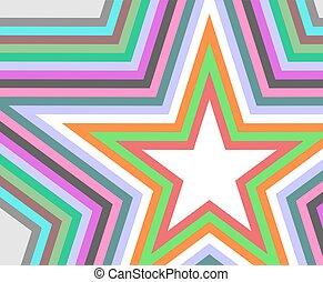 couleur, étoile, art, fond