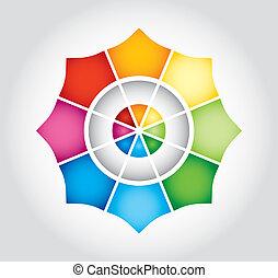 couleur, étoile, gabarit
