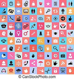 couleur, 100, vecteur, universel, numérique