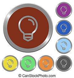 couleur, ampoule, boutons