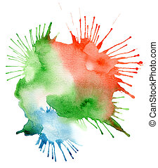 couleur, aquarelle, résumé, tache, fond