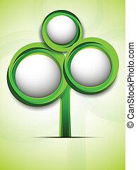 couleur, arbre, résumé, vert