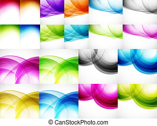 couleur, arrière-plans, vague