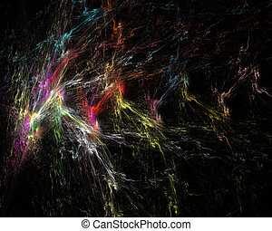 couleur, art abstrait, éclater, objet, fractal