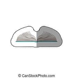 couleur, autocollant, milieu, livre, ombre, ouvert