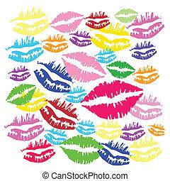 couleur, baiser