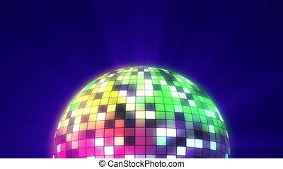 couleur, balle, disco, 3d, render