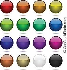 couleur, balles, ensemble, isolé, sur, white.