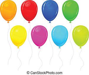 couleur, ballons