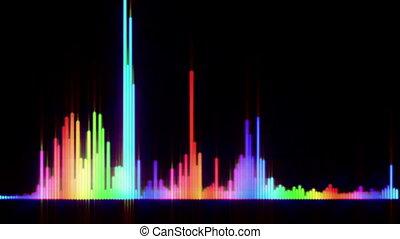 couleur, barre, compensateur, audionumérique