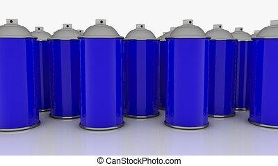 couleur, bleu, boîtes vaporisation