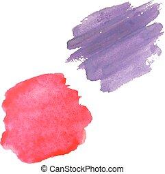 couleur, blots, ensemble