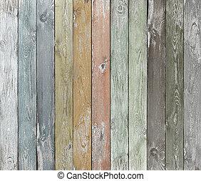 couleur, bois, vieux, planches, fond