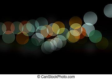 couleur, bokeh, nuit