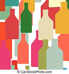 couleur, bouteille, silhouette