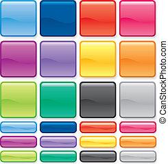 couleur, bouton, ensemble
