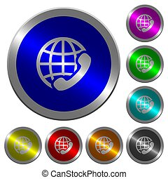 couleur, boutons, appeler, coin-like, international, lumineux, rond