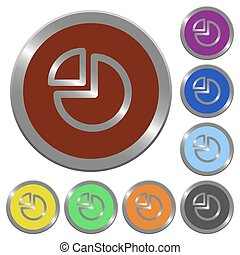 couleur, boutons, graphique circulaire