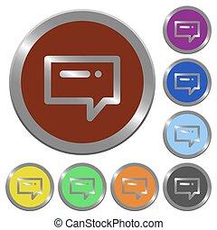 couleur, boutons, message