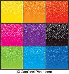 couleur, bulles, arrière-plans