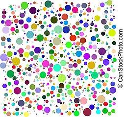 couleur, bulles, vecteur