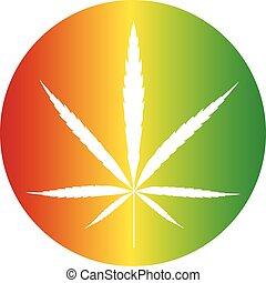 couleur, cannabis, bouton