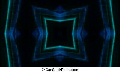 couleur, carrée, laser, flamme, lumière, néon