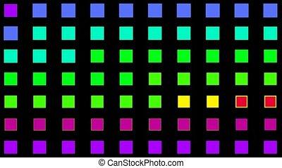 couleur, carrée, matrice, vacances, disco, lumière