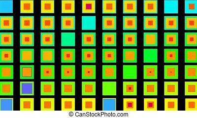 couleur, carrée, morph, seamless, boucle, fond