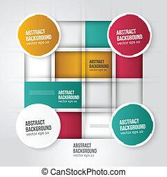 couleur carrée, résumé, arrière-plan., vecteur, géométrique
