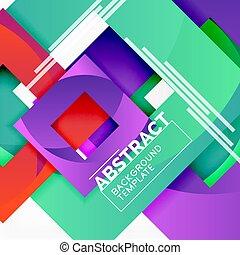 couleur carrée, résumé, text., fond, géométrique, composition