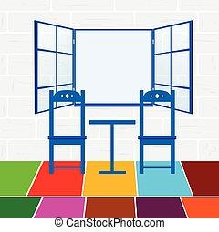 couleur, chaise, illustration