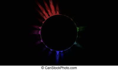couleur, circulaire, compensateur, audio
