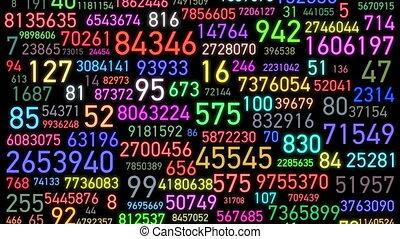couleur claire, grand, screen., jeûne, couleurs, uhd, ...