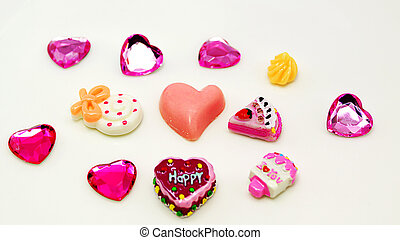 couleur, coeur, entiers, fond, doux