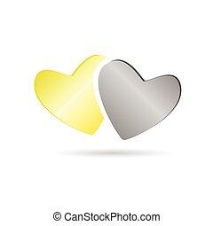 couleur, coeur, vecteur