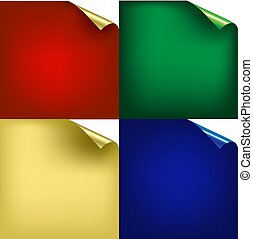 couleur, coins, arrière-plans