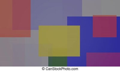 couleur, composé, arrière-plan flou, multicolore, rectangles...
