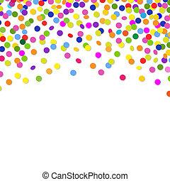 couleur, confetti, cadre