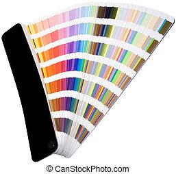 couleur, coupure, échelle