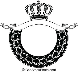 couleur, couronne royale, une, cercle, composition