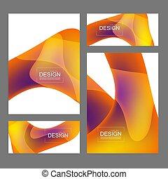 couleur, covers., ensemble, fluide