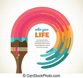 couleur, créatif, concept, idée, conception