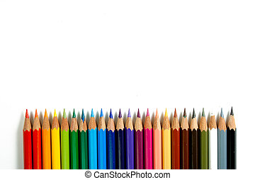 couleur, crayons, 2, -
