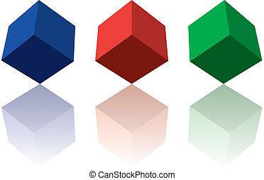 couleur, cubes